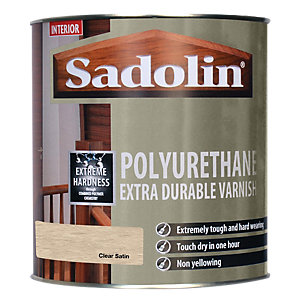 Sadolin Polyurethane Extra Durable Varnish Clear Satin 1L