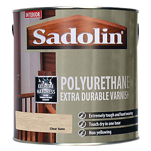 Sadolin Polyurethane Extra Durable Varnish Clear Satin 2.5L