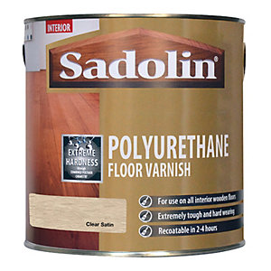 Sadolin Polyurethane Floor Varnish Clear Satin 2.5L