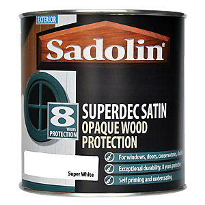 Sadolin Superdec Satin Opaque Wood Protection Super White 2.5L