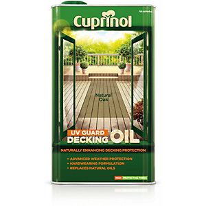 Cuprinol UV Guard Decking Oil Natural Oak 5L