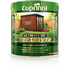 Cuprinol Ultimate Garden Wood Preserver Autumn Brown 4L