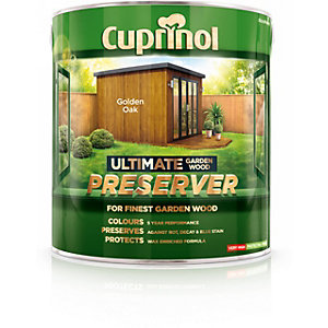 Cuprinol Ultimate Garden Wood Preserver Golden Oak 4L