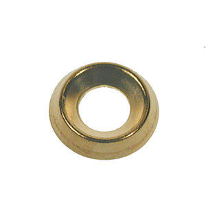 4TRADE Screw Cup NO7/8 Brass Plated PK500