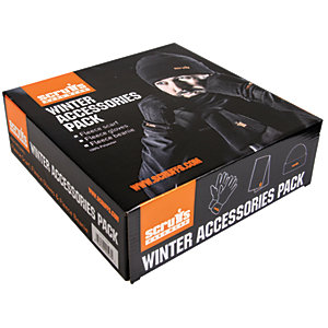 Scruffs Winter Accessories pack Including Hat, Scarf and Gloves - Black - One Size Fits All