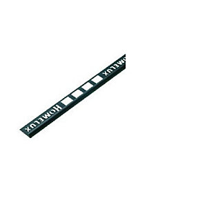 Homelux Tile Trim 2.5m x 6mm Black HTTSBK25