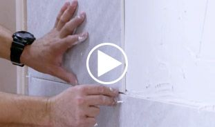 Video guide showing how to tile a wall