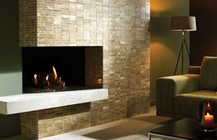 Wickes Brown Polished Marble Brick Mosaic