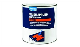 Wickes Brush Applied Bitumen Roof Waterproofer